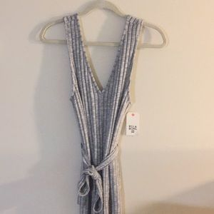 NWT Billabong Wipe Out Jumpsuit Gray